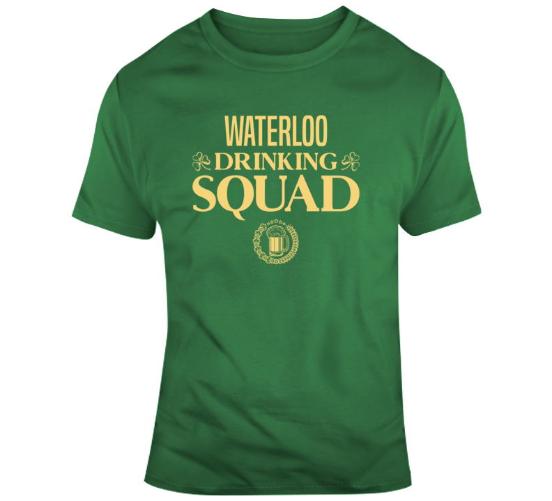 Waterloo Drinking Squad Funny Canadian University Student Joke Gift T Shirt