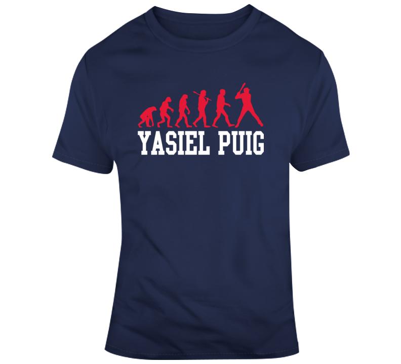 Yasiel Puig Evolution Cool Cleveland Indians Mlb Baseball Fan Gift T Shirt