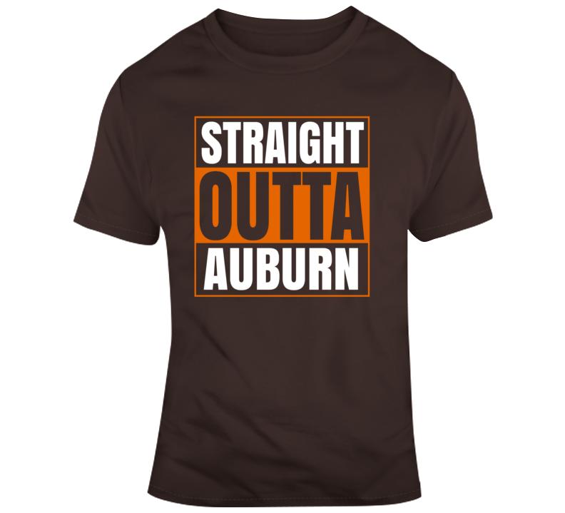Straight Outta Auburn Tigers College Football Fan Gift T Shirt