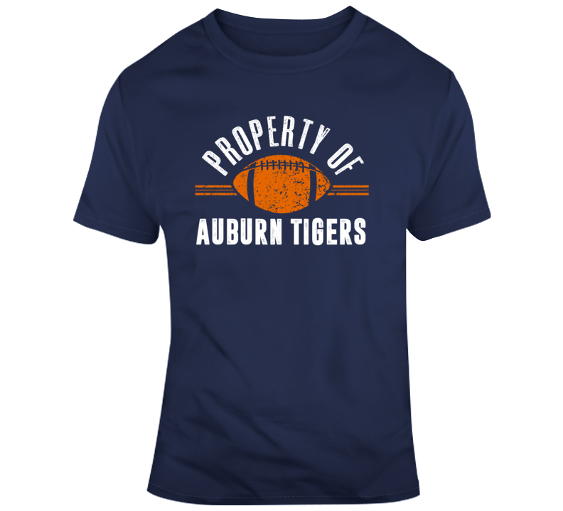 Property Of Auburn Tigers Ncaaf College Football Fan Gift T Shirt
