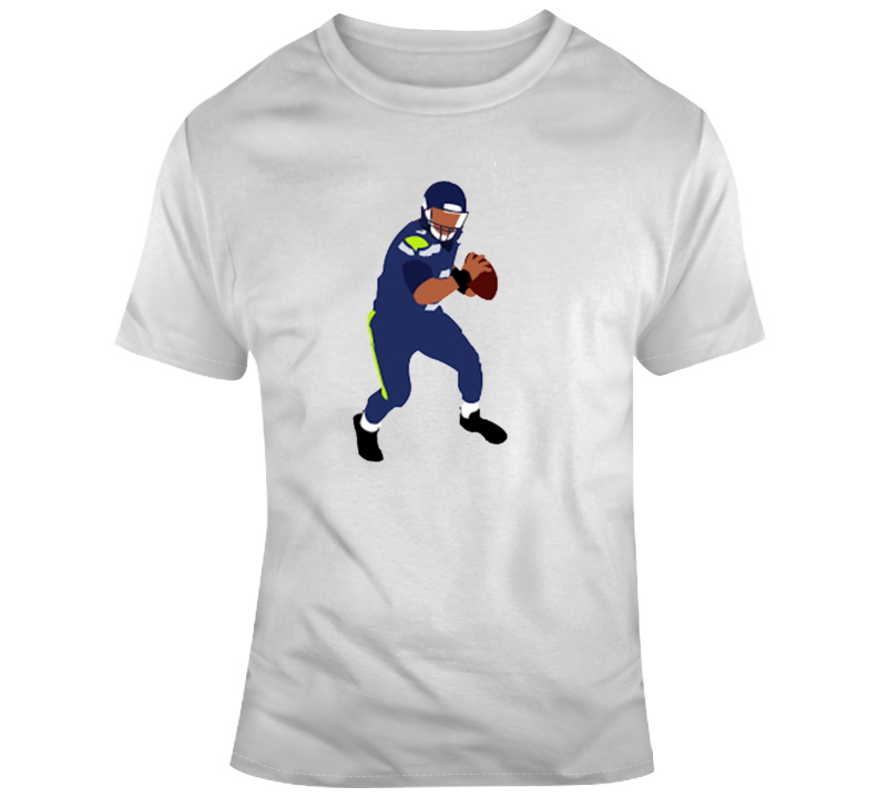 Russel Wilson On The Run Seattle Seahawks Nfl Football Fan Gift T Shirt