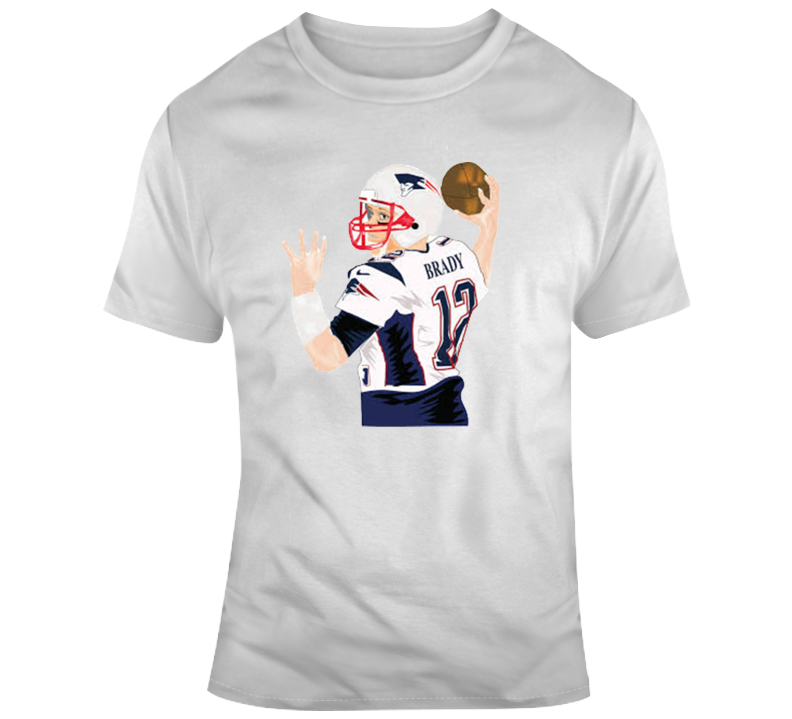 Tom Brady Throwing New England Patriots Nfl Football Fan Gift T Shirt