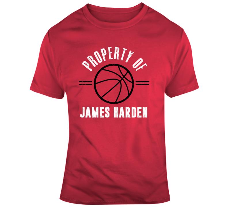 Property Of James Harden Houston Rockets Nba Basketball Fan Gift T Shirt
