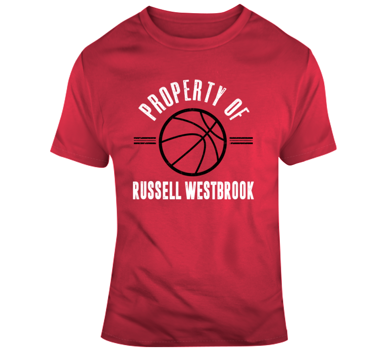 Property Of Russell Westbrook Houston Rockets Nba Basketball Fan Gift T Shirt