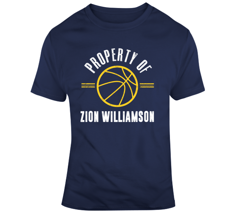 Property Of Zion Williamson Funny New Orleans Pelicans Nba Basketball Fan Gift T Shirt