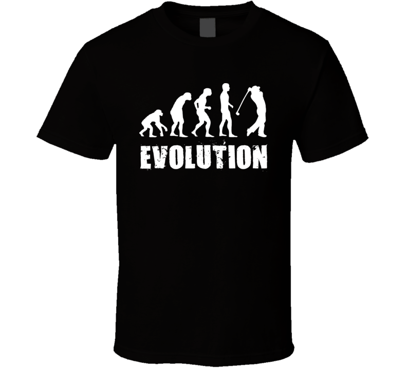 Evolutiion Of Golfer Golf T Shirt