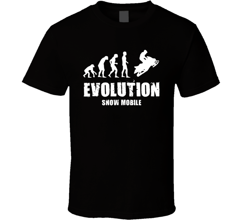 Evolution Snow Mobile T Shirt