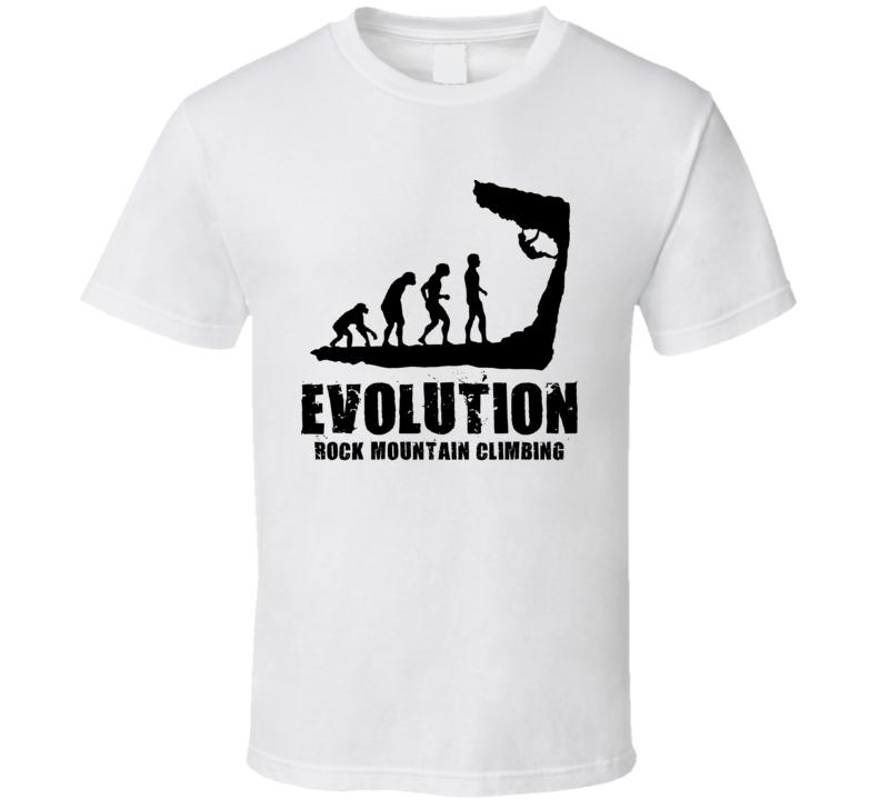 Rock Mountain Climbing Evolution T Shirt