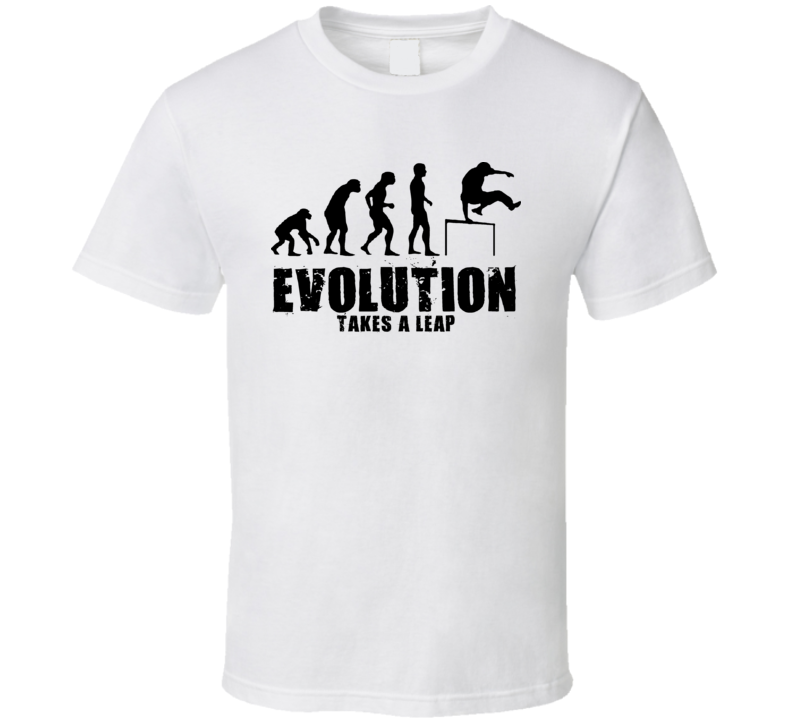 Evolution Takes A Leap Parkour T Shirt