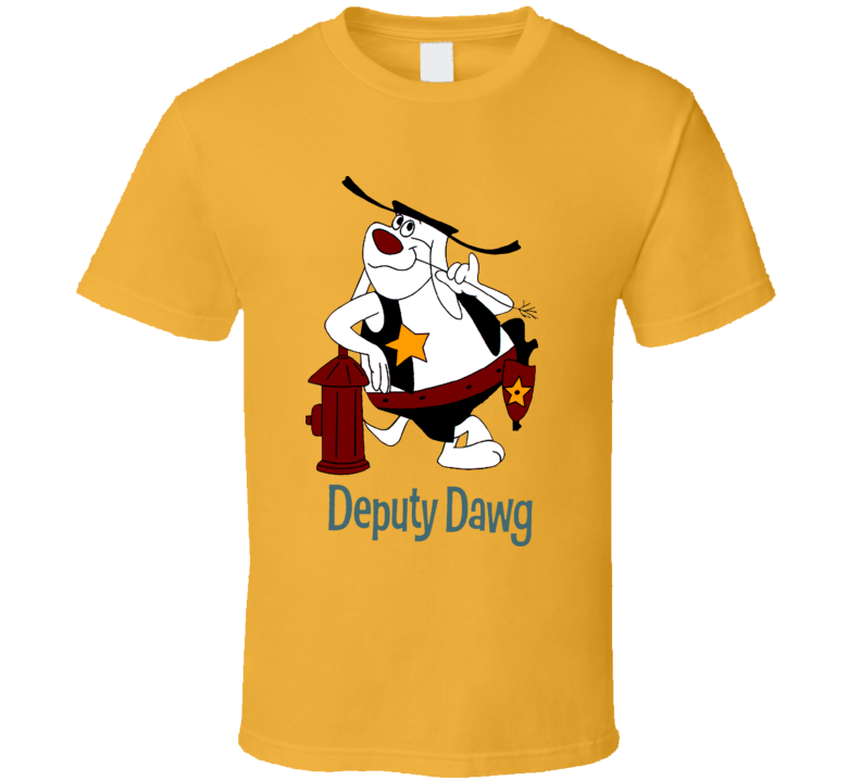 Deputy Dawg Hydrant Cartoon T Shirt