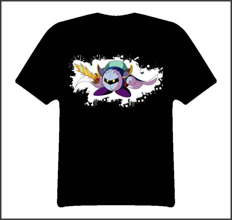 Meta Knight Kirby Smash Bros Video Game T Shirt
