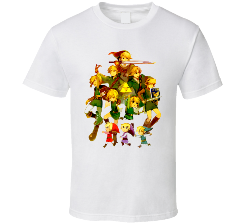 Legend Of Zelda All Link T Shirt