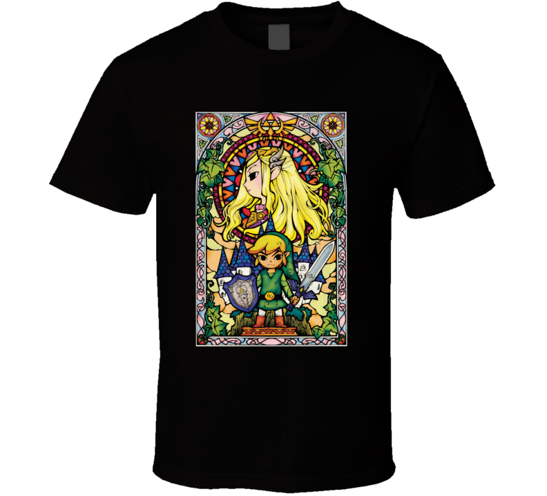 Legend Of Zelda Stain Glass Video Game T Shirt