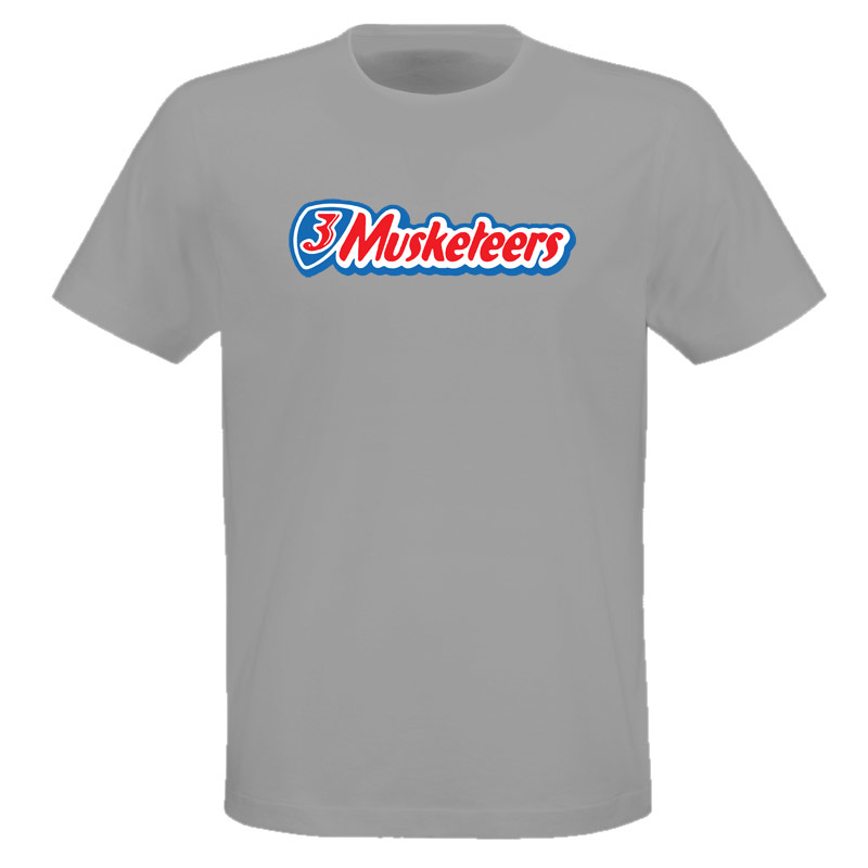 3 Musketeers Candy Chocholate Bar T Shirt