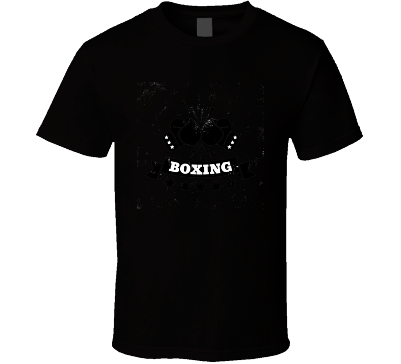 Vintage Logo For A Boxing On Grunge Background T Shirt T Shirt
