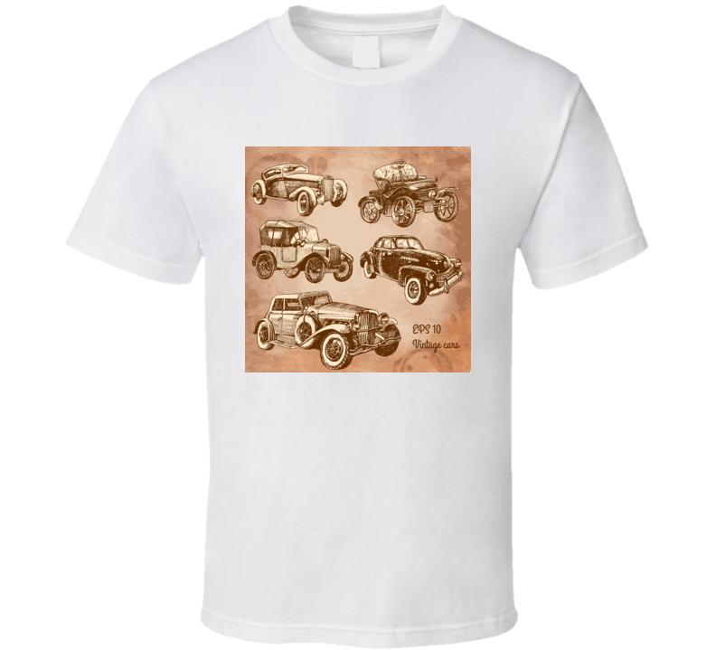 Set Of Vintage Cars  T Shirt T Shirt