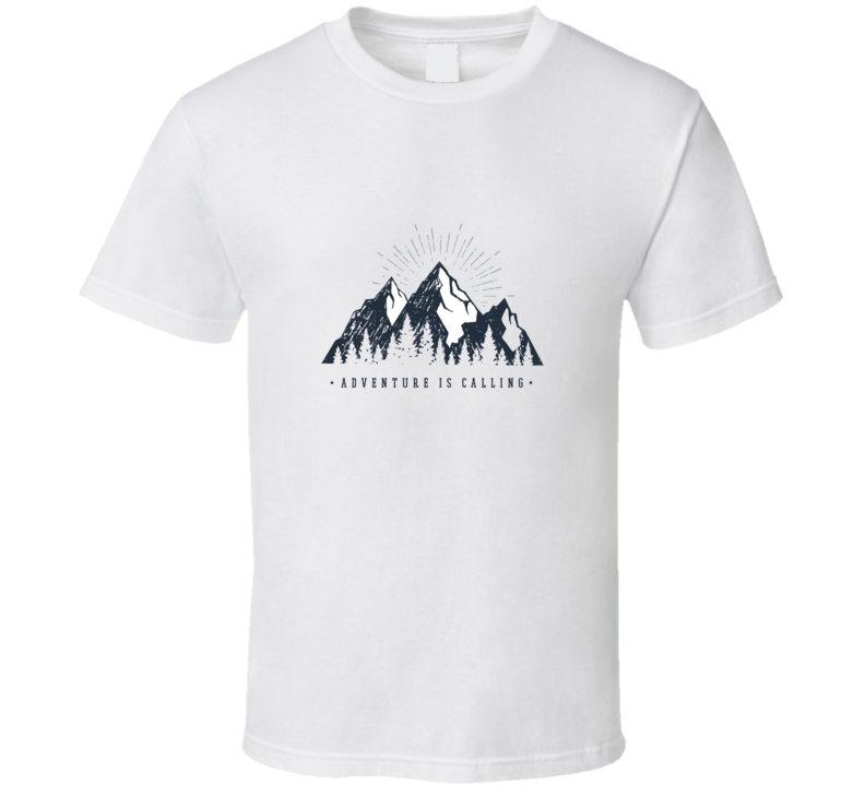 Hand Drawn Inspirational Label With Mountains And Pine Trees Textured Vector And T Shirt T Shirt