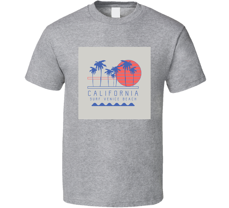 Vector Illustration On The Theme Of Surf And Surfing In California Venice Beach T Shirt T Shirt