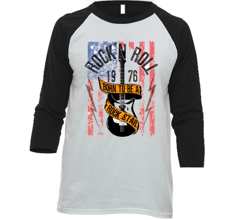 Grunge Print For T-shirt With Guitar T Shirt T Shirt