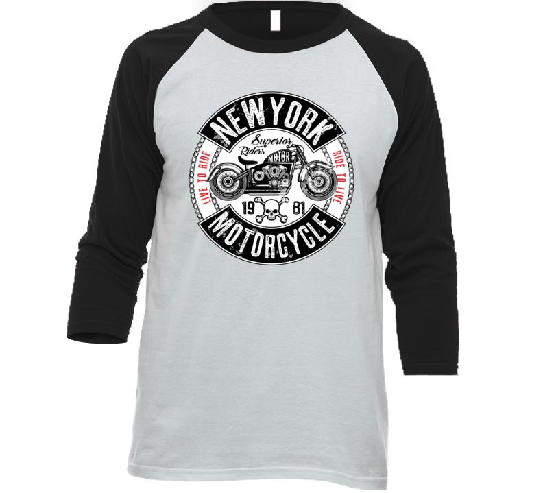 Motorcycle Label T-shirt Design With Illustration Of Custom Chopper T Shirt T Shirt