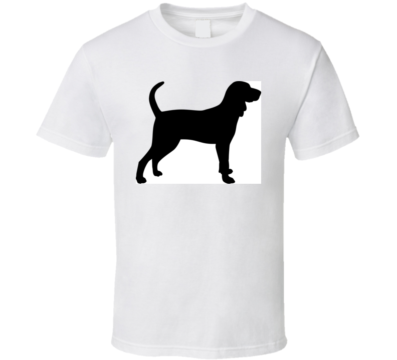 Black And Tan Coonhound Silhouette Real In Black T Shirt T Shirt
