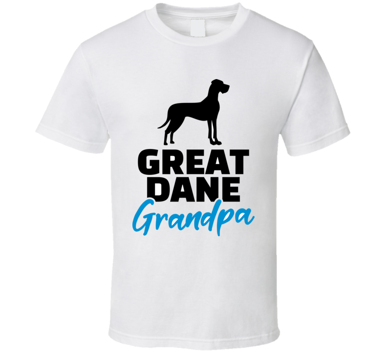 Great Dane Grandpa Silhouette Black T Shirt T Shirt
