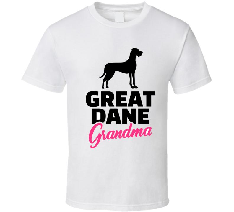 Great Dane Grandma Silhouette Black T Shirt T Shirt