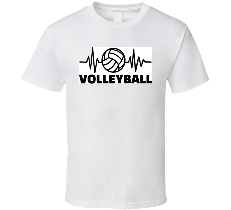 Heartbeat Pulse Line With Volleyball Player And Volleyball T Shirt T Shirt