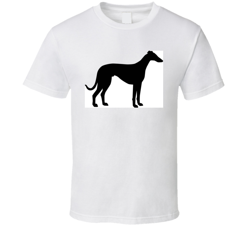 Italian Greyhound Silhouette Real In Black T Shirt T Shirt