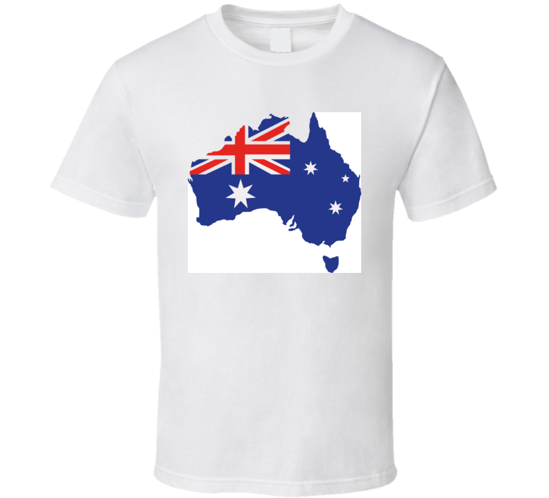 Australia Map With Flag T Shirt T Shirt