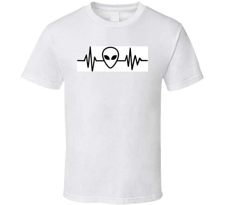 Heartbeat Pulse Line With Alien Mask T Shirt T Shirt