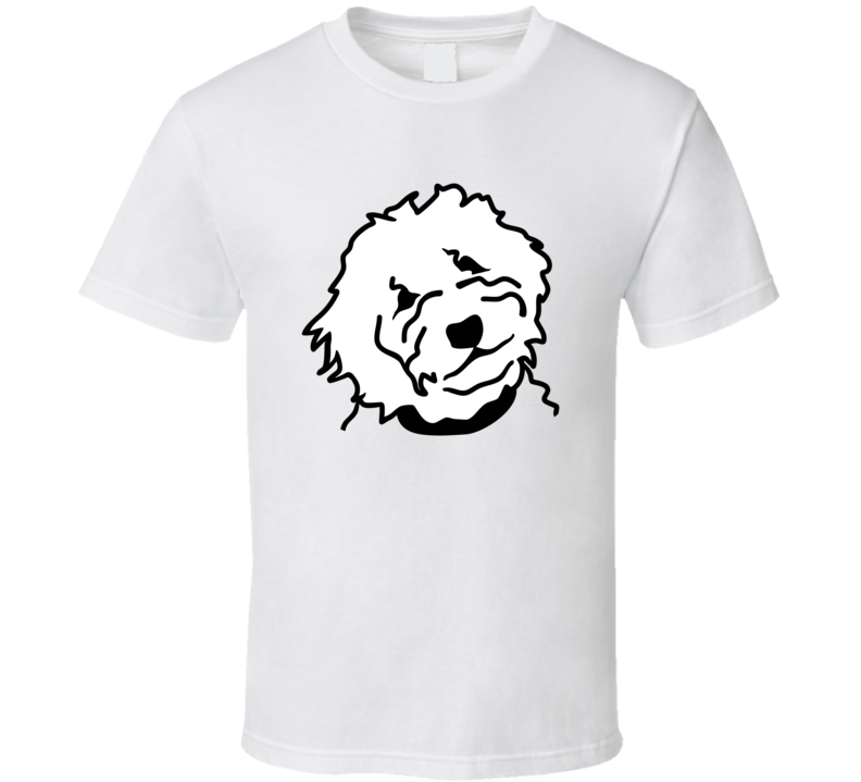 Goldendoodle Head Silhouette In White  T Shirt T Shirt