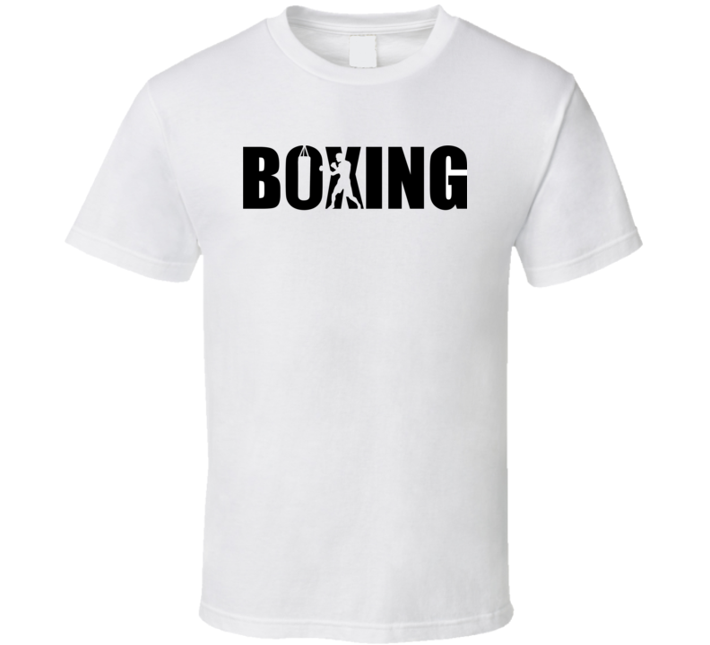 Boxing With Boxer Silhouette T Shirt T Shirt
