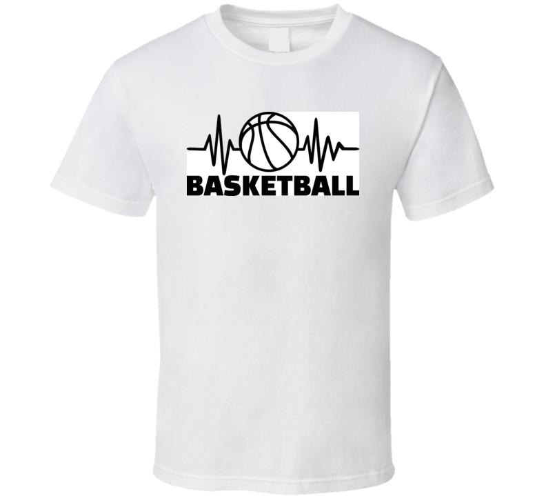 Heartbeat Pulse Line With Basketball T Shirt T Shirt