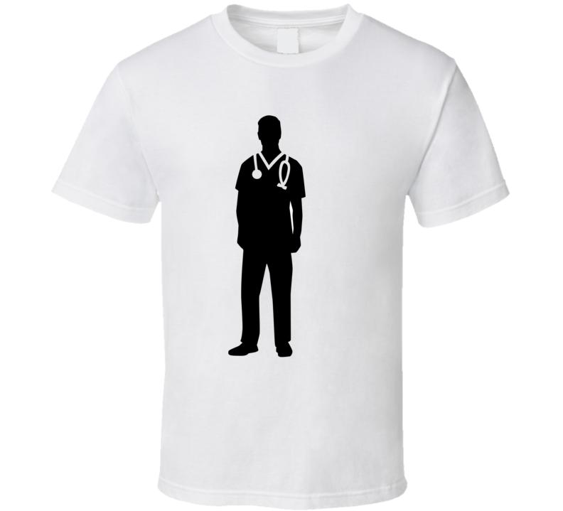 Male Nurse Silhouette T Shirt T Shirt
