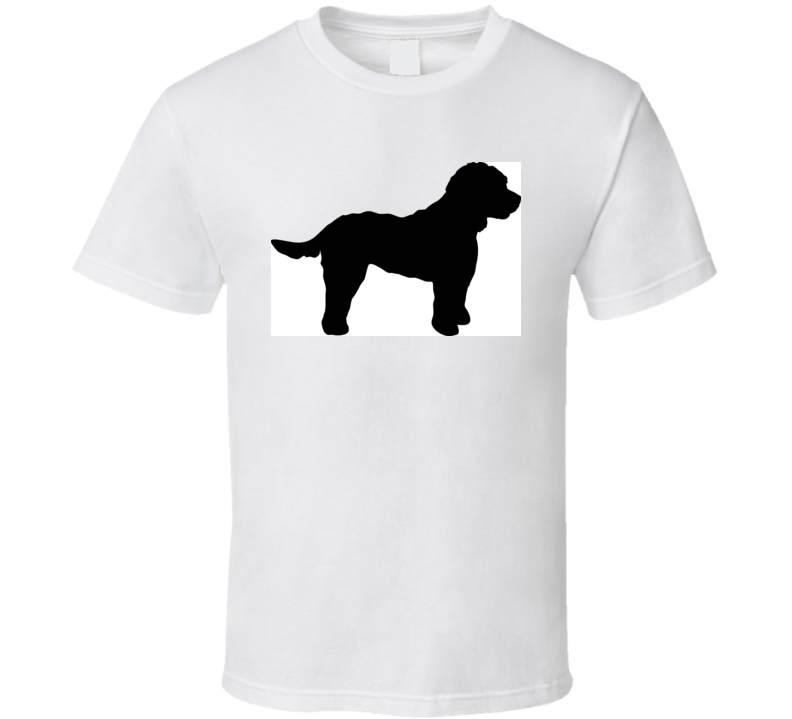 Cockapoo Silhouette Real In Black T Shirt T Shirt