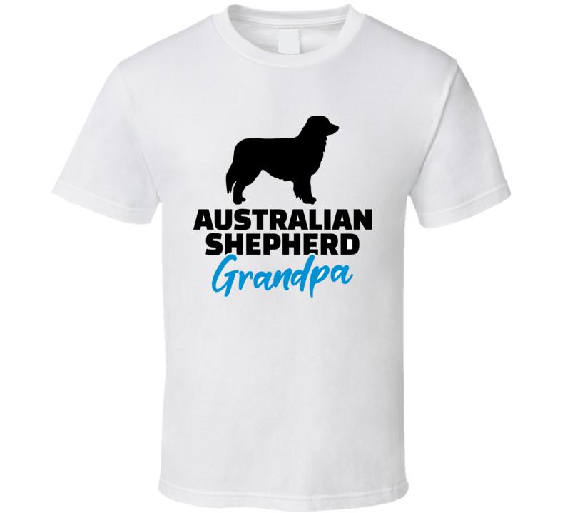Australian Shepherd Grandpa Silhouette Black T Shirt T Shirt