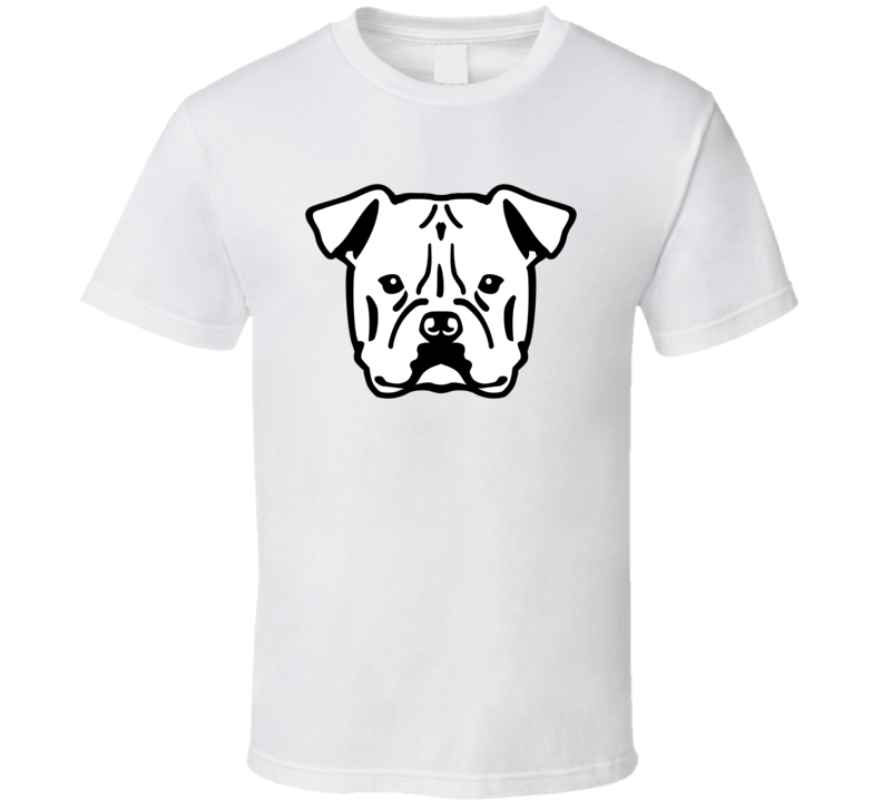 American Bulldog Head Black With Name T Shirt T Shirt