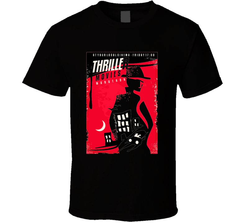 Creative Poster Design For Thriller Movie Show Cinema Poster Template With Agent T Shirt