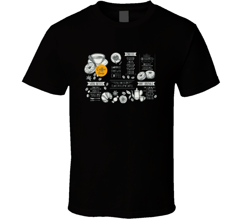 Coffee Restaurant Brochure Vector Coffee Shop Menu Design Vector Cafe Template  T Shirt