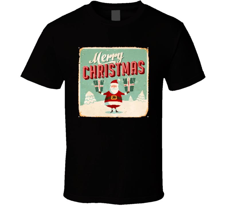 Vintage Metal Sign - Merry Christmas - Vector Eps10 Grunge Effects Can Be Easily A T Shirt