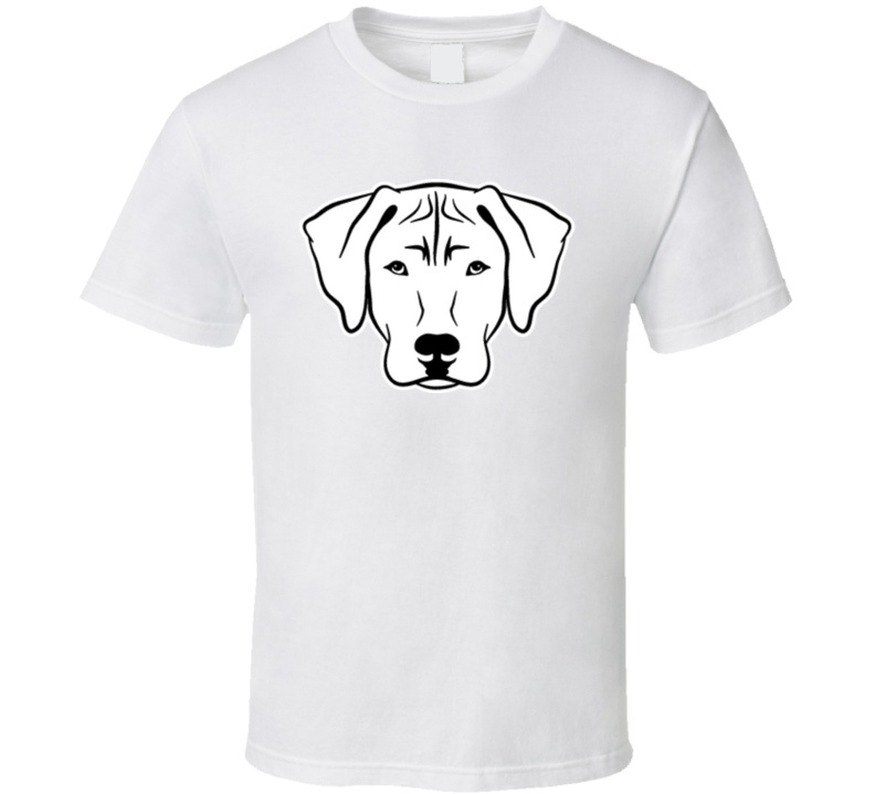 Rhodesian Ridgeback Head Black And White T Shirt