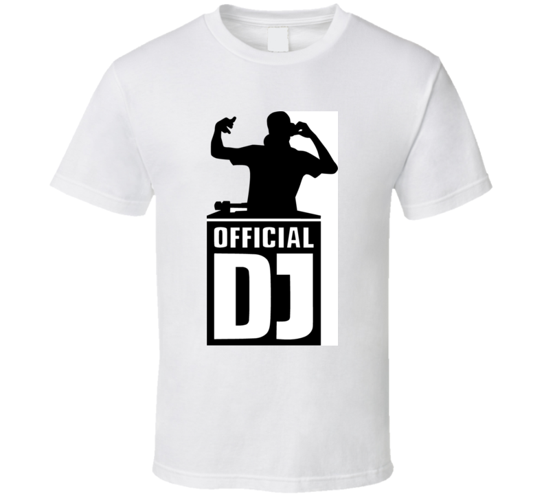 Dj Silhouette With Official Dj T Shirt
