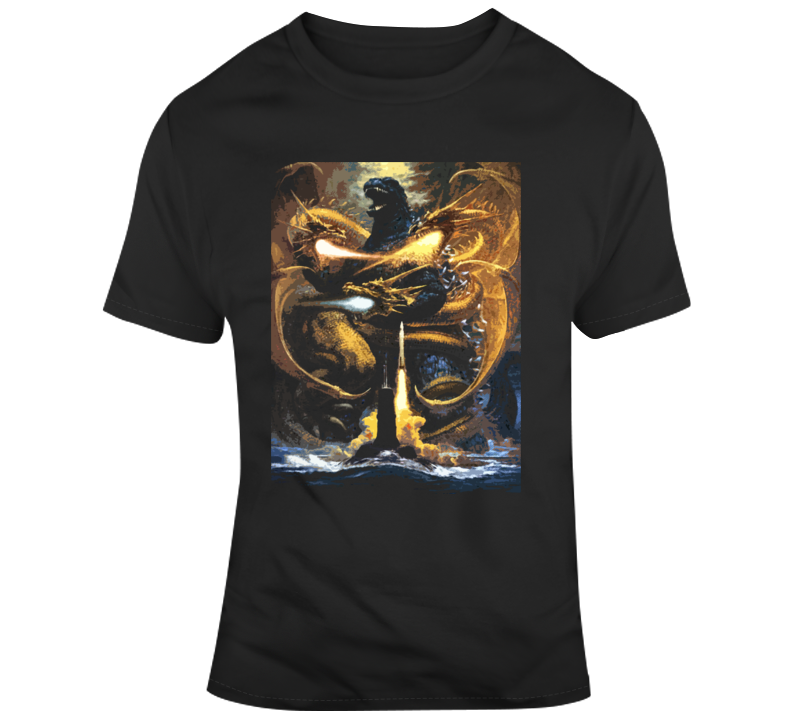 Godzilla Vs Hydra King Of The Monsters Movie T Shirt