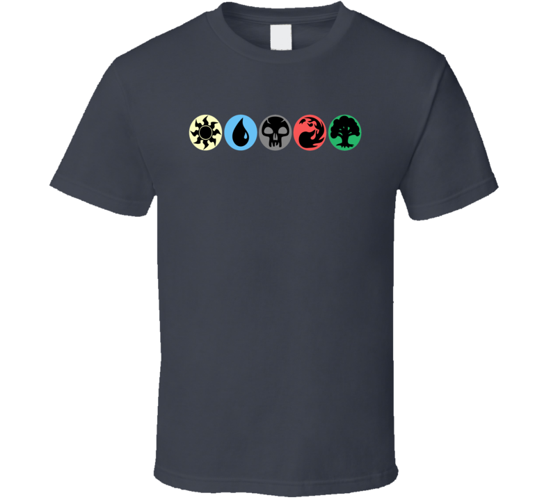 Magic The Gathering Mana Symbols Ccg Card Game T Shirt