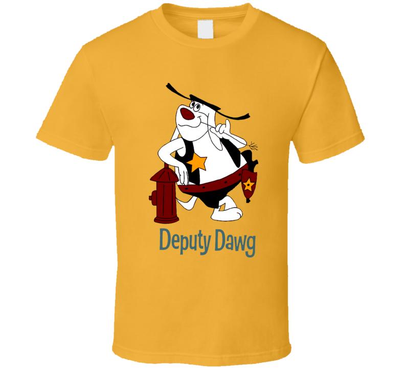 Deputy Dawg Hydrant Cartoon T Shirt