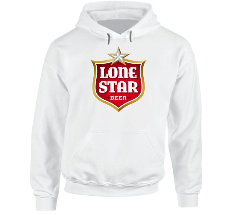 Lone Star Beer Logo Drinking Hoodie