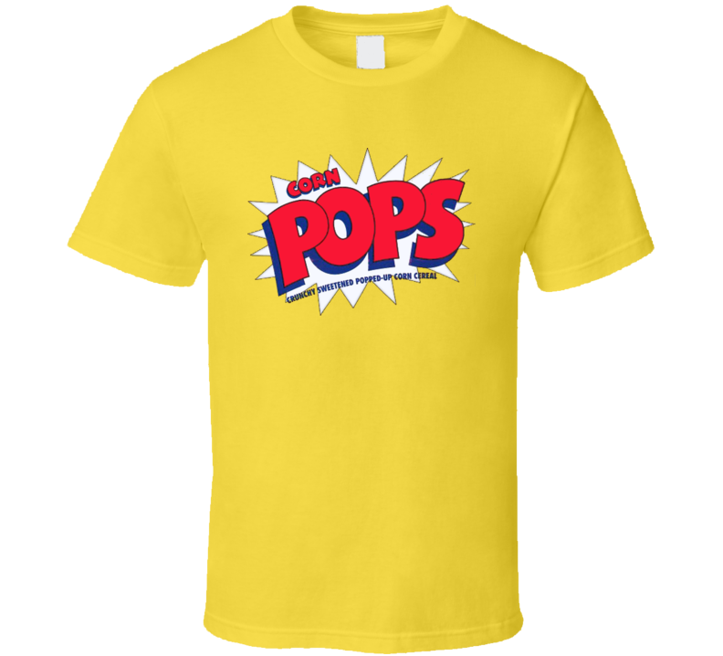 Corn Pops Cereal Classic Yellow T Shirt