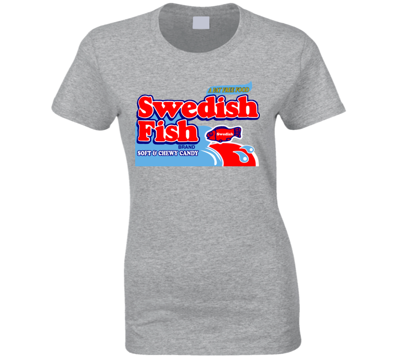 Swedish Fish Soft And Chewy Candy Ladies T Shirt