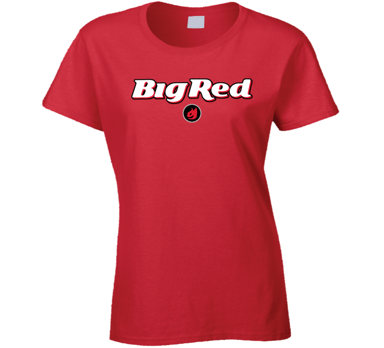 Big Red Gum Cinnamon Chewy Hot Ladies T Shirt